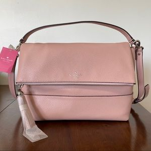 Kate Spade Pink Leather Cross Body Hand Bag Large